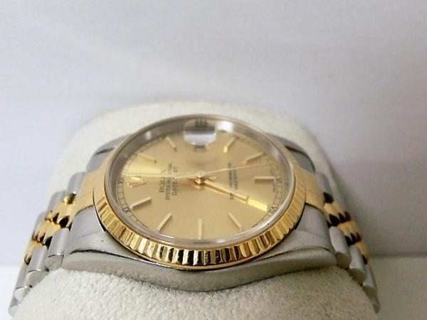 ロレックス 16233 P番 デイトジャスト メンズ 腕時計 自動巻き SS/K18YG ギャラ有 シャンパンゴールド文字盤☆ROLEX☆【中古】 bt1050_画像4