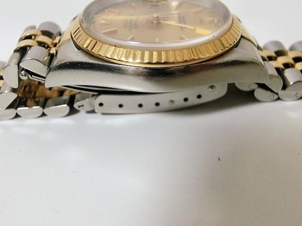 ロレックス 16233 P番 デイトジャスト メンズ 腕時計 自動巻き SS/K18YG ギャラ有 シャンパンゴールド文字盤☆ROLEX☆【中古】 bt1050_画像5