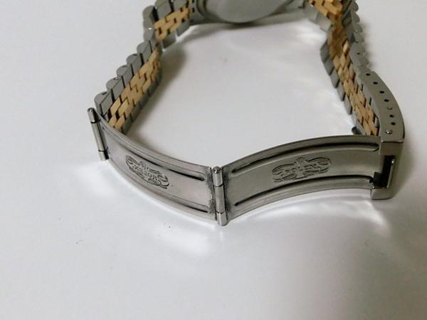 ロレックス 16233 P番 デイトジャスト メンズ 腕時計 自動巻き SS/K18YG ギャラ有 シャンパンゴールド文字盤☆ROLEX☆【中古】 bt1050_画像8