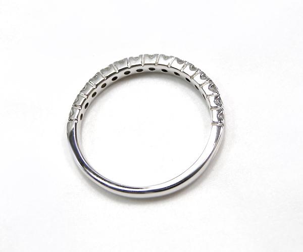 【ME】最落無し★ 0.41ct/天然ダイヤモンド Pt900ハーフエタニティリング・指輪(S14860)_画像3