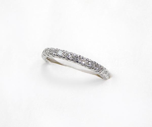 【ME】最落無し★ 0.41ct/天然ダイヤモンド Pt900ハーフエタニティリング・指輪(S14860)_画像2