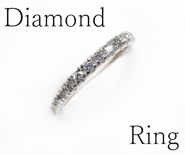 【ME】最落無し★ 0.41ct/天然ダイヤモンド Pt900ハーフエタニティリング・指輪(S14860)_画像1