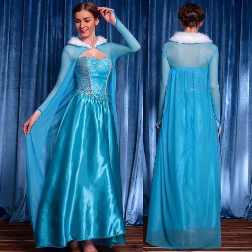 アリス シンデレラ 姫様 アナと雪の女王 ブルー L【 同梱可能 | 即納】 ディズニーグッズの画像