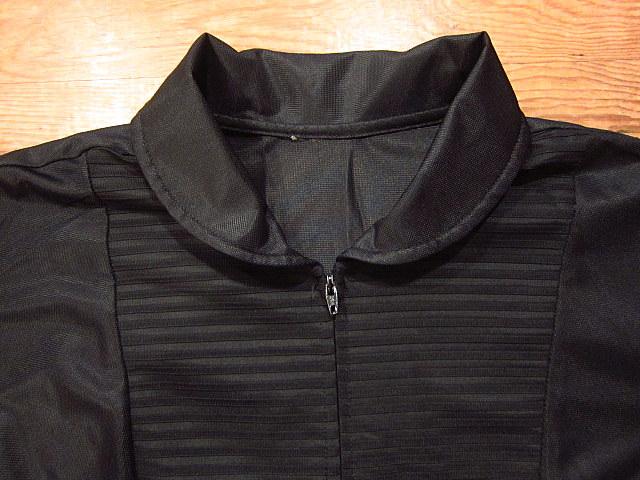 ビンテージ70's★丸襟半袖ワンピース黒★60's80's古着屋卸レトロひざ丈ブラックシンプル_画像3