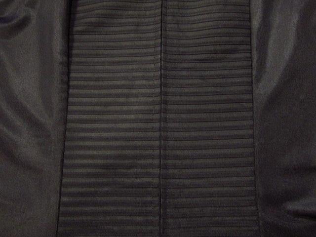 ビンテージ70's★丸襟半袖ワンピース黒★60's80's古着屋卸レトロひざ丈ブラックシンプル_画像6