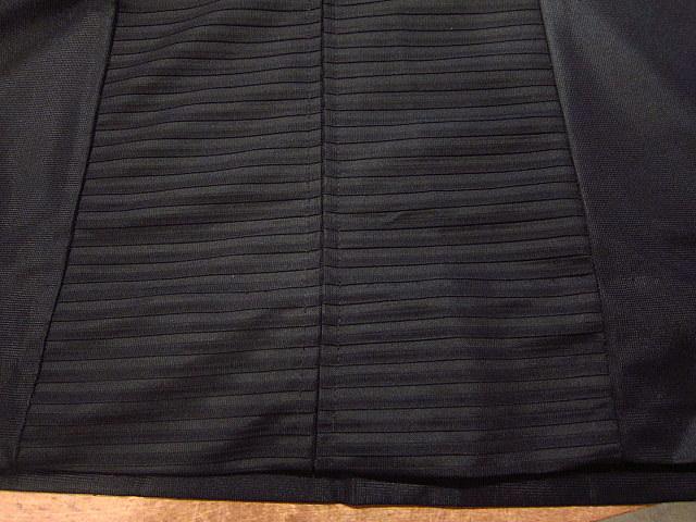 ビンテージ70's★丸襟半袖ワンピース黒★60's80's古着屋卸レトロひざ丈ブラックシンプル_画像9