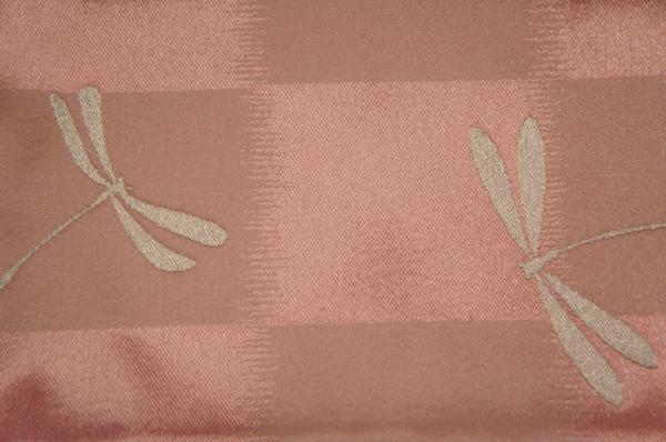 新品源氏帯パールピンク色市松トンボ模様半幅帯[N10353]_堀井源氏帯パールピンク市松トンボ半幅帯