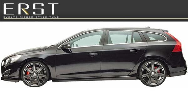 【M's】VOLVO V60 FB T4 T5 T6 AWD(11y-13y)ERST リアスカート_画像4