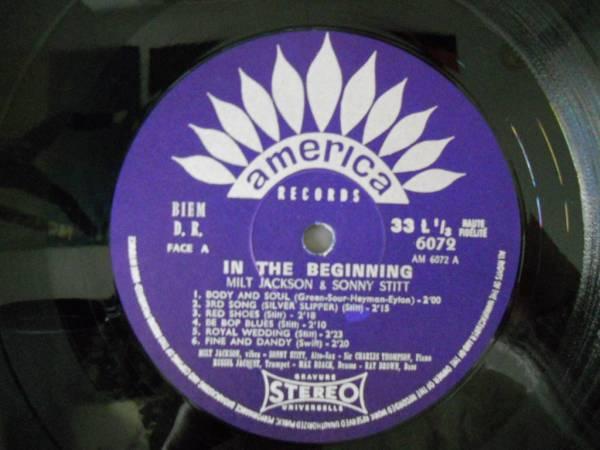222880 MILT JACKSON, SONNY STITT / In The Beginning(LP)_画像4