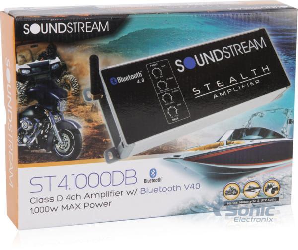 ■USA Audio■サウンドストリームSoundstream 超小型 ST4.1000DB 4ch Class D Bluetooth(ブルートゥース)機能付 Max.1000W●保証付●税込_画像8
