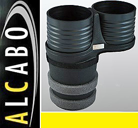 【M's】ボルボ S60 V60 XC60 X70 XC70 S80 ALCABO ドリンクホルダー(ブラック)//アルカボ カップホルダー 左右H共通 VOLVO AL-B107B_画像1