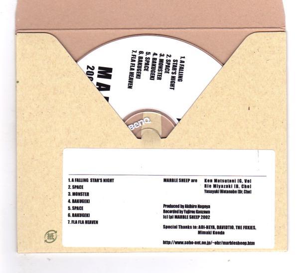 CD-R/MARBLE SHEEP / 2002.Sep.24th Shibuya AOI-HEYA_画像2