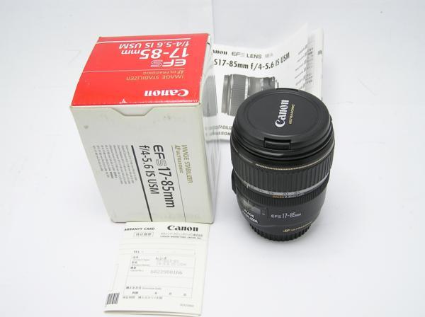 ★ハロ-カメラ★5827 Canon EF-S(17-85mm/4-5.6 IS USM) 手振れレンズ 箱.保証書有り.動作品 現状 美品 極上品