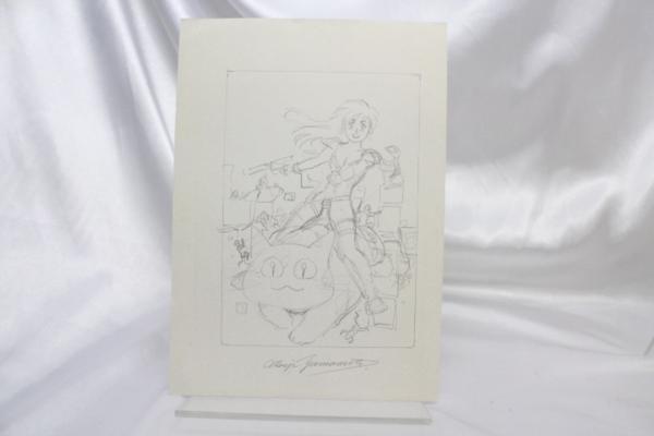 【マンガ図書館Z】山本貴嗣先生「コミックガイア7号表紙」カラー原画&ラフ画 rfp1075_画像2