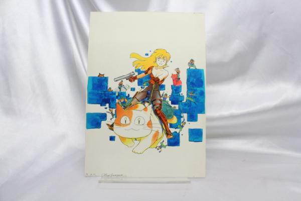【マンガ図書館Z】山本貴嗣先生「コミックガイア7号表紙」カラー原画&ラフ画 rfp1075_画像5