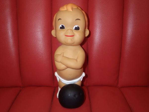 One bite successful bid ★ Bowling boy ★ 2 ★ Soft Vinyl ★ Bank ★ Saving Box ★ Doll ★ Retro ★ Vintage ★