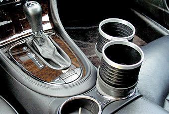 【M's】W219 ベンツ AMG CLSクラス(2005y-2010y)ALCABO 高級 ドリンクホルダー(ブラック)/アルカボ カップホルダー AL-B109B ALB109B_※画像はブラック+リングの取付けサンプル