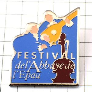 限定レア◆ピンバッジ◆ギター音楽祭バイオリン楽器ピンズフランス
