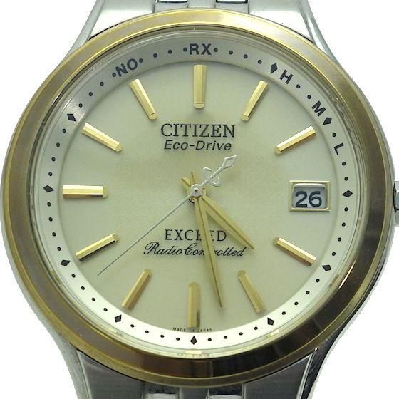 【USED】シチズン☆CITIZEN EXCEED エクシード EBG74-2792 エコドライブ電波時計 メンズ腕時計 チタン_画像2