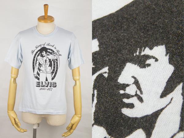 70's ELVIS エルヴィスプレスリー 半袖 ロックTシャツ size L #29406 ヴィンテージ ビンテージ ロックンロール エルビス