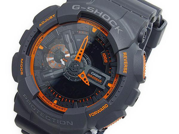 カシオ CASIO Gショック G-SHOCKアナデジ メンズ 腕時計 GA-110TS-1A4 ダークグレー×オレンジ