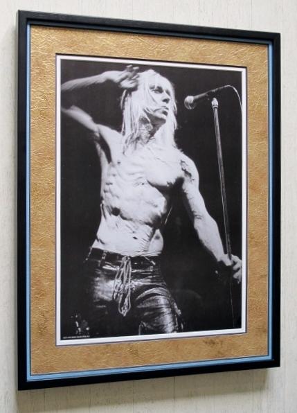 イギー・ポップ/アートピクチャー額装/Iggy Pop/The Stooges/ザ・ストゥージズ/パンクのゴッドファーザー/Framed Godfather of Punk Art
