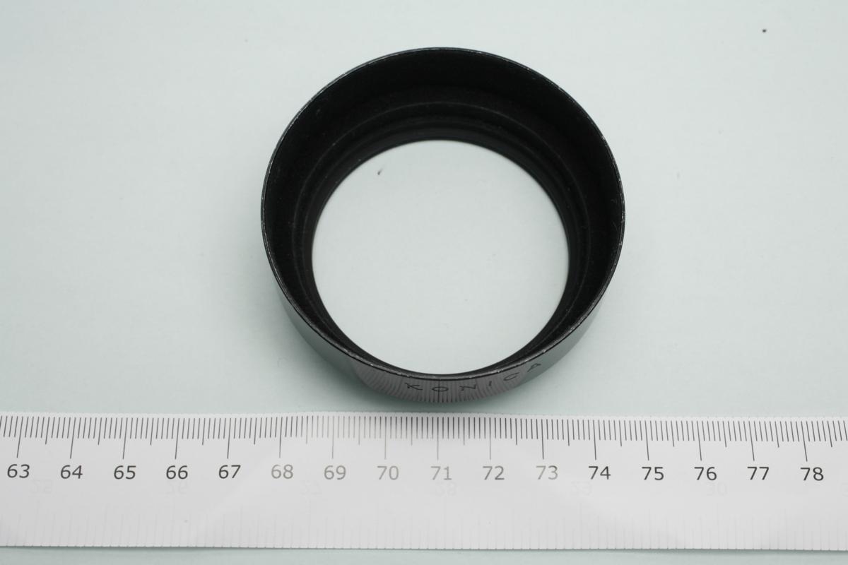 ※ フード 装着径55mm 金属フード メタルフード KONICA コニカ AR 55mm 57mm 50mm f1.4 f1.7 ヘキサノン 他 H2901_画像3