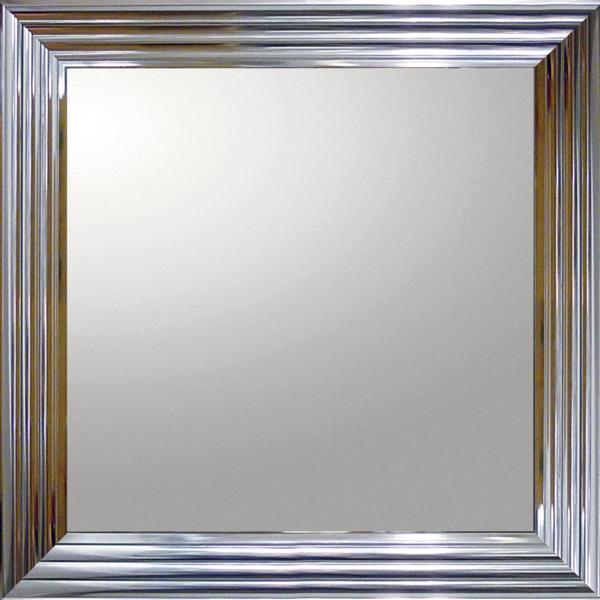 大型ミラー シャープ「正方形(メタル シルバー)」_画像1
