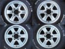 ハイラックス サーフ ピックアップ ハイエース SUV車に! KEELER 7.0J×16インチ 6H PCD139.7 +26 中古アルミホイール 4本セット!