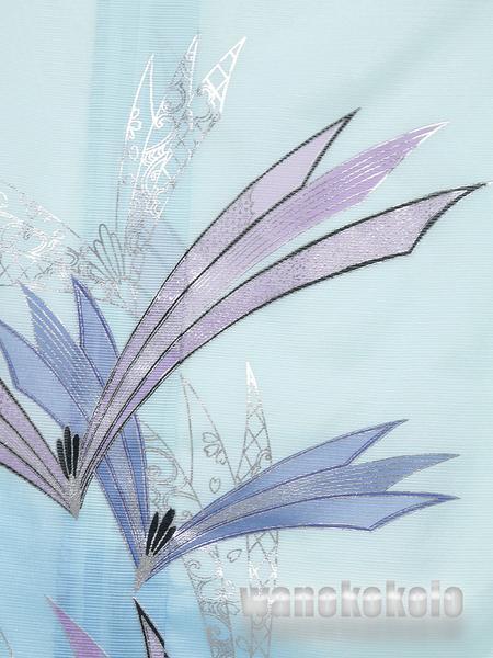 【和の志】夏の洗える着物◇絽・付下◇水色系・松葉◇KRT-54_画像2