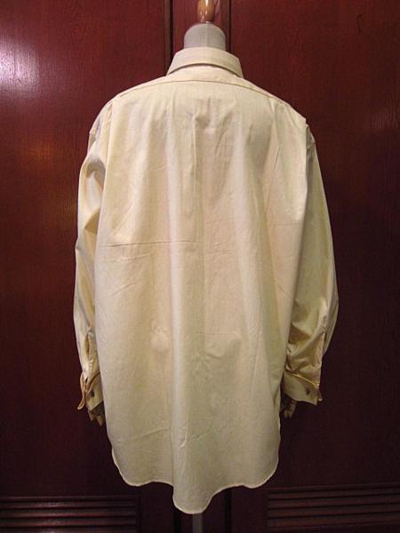ビンテージ50's★DEAD STOCK Riggsフレンチカフドレスシャツ黄17★デッドストック40s60sイエロー薄黄_画像2
