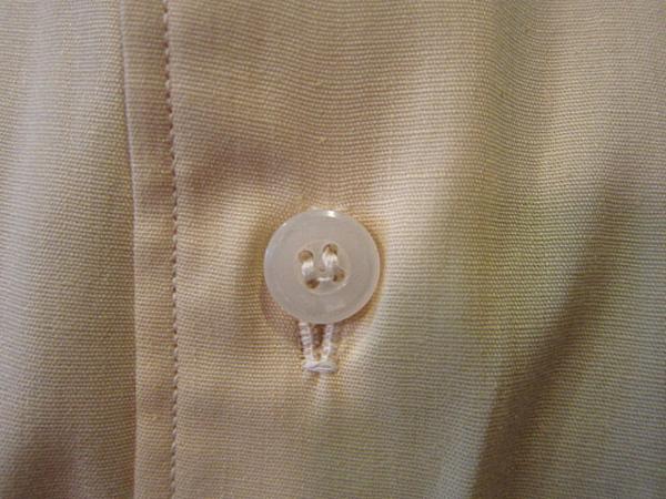 ビンテージ50's★DEAD STOCK Riggsフレンチカフドレスシャツ黄17★デッドストック40s60sイエロー薄黄_画像4