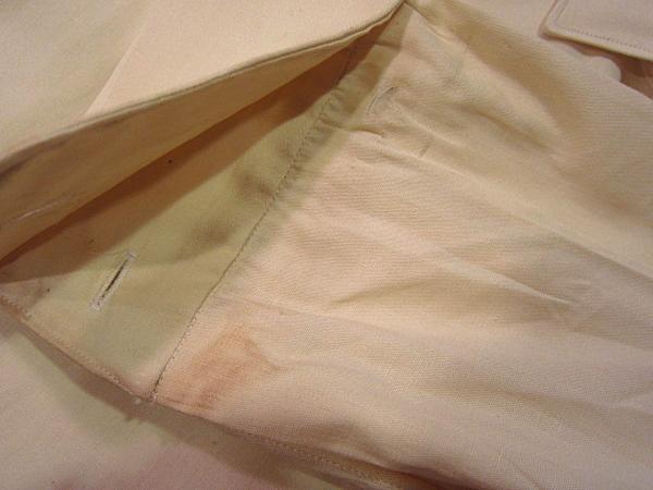 ビンテージ50's★DEAD STOCK Riggsフレンチカフドレスシャツ黄17★デッドストック40s60sイエロー薄黄_左袖先付近の汚れ