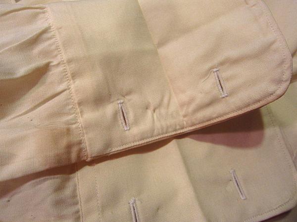 ビンテージ50's★DEAD STOCK Riggsフレンチカフドレスシャツ黄17★デッドストック40s60sイエロー薄黄_右袖先付近の汚れ