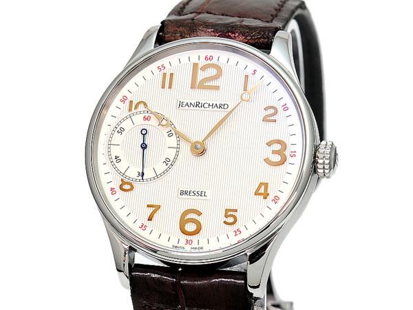 [3年保証] ジャンリシャール ブレッセル1665 Ref.16012 新品仕上げ済 手巻き 裏スケルトン ビジネス腕時計 フォーマル腕時計 中古 送料無料