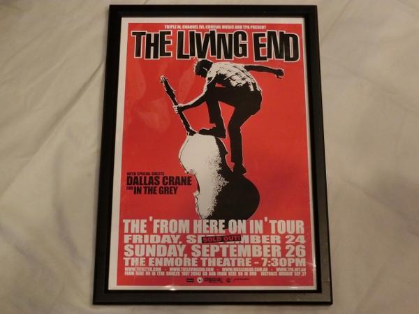 レア 限定 The Living End ツアー ポスター フレーム リビングエンド ロカビリー サイコビリー