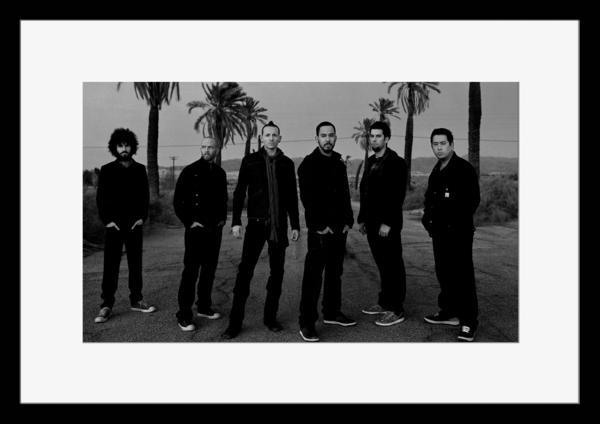 BW:人気ロックバンド!リンキン・パーク/Linkin Park/モノクロ写真フレームマット付-18