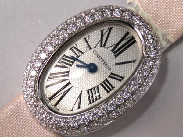1円!■【Cartier】カルティエ ミニベニュワール■WG750 ダイヤ付 Ref.2369 箱一式 保付