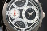 1円×3本 世界限定レトログラード美しすぎるBLACK腕時計