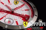 1円2本美しすぎる白赤フェラーリ公式スクーデリアFERRARI腕時計