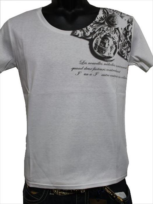デスピエール DES PIERRE メンズ半袖Tシャツ 80019 ホワイト Mサイズ 新品_画像1