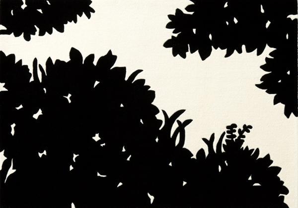 【東リラグTOR3423】140x200木立柄シルエット【送料無料】_画像2