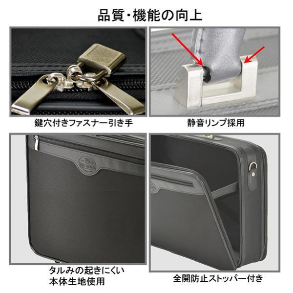 V190】送料無料!ソフトアタッシュケース ブリーフケース 書類鞄 ビジネスバッグ ショルダーベルト付 2WAY仕様 42cm B4Fサイズ 黒 _画像5