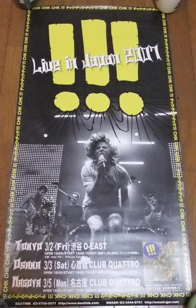 6788 CHK CHK CHK !!! チック・チック・チック 来日公演ポスター