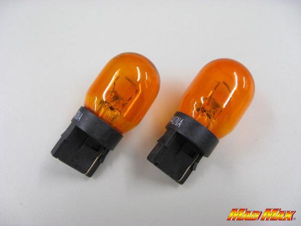 【新品】T20ウエッジ オレンジバルブ シングル球(12V 21W)_画像1