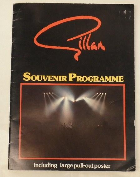 BOOK/GILLAN/ SOUVENIR PROGRAMME 1982 ポスター付 (d998)