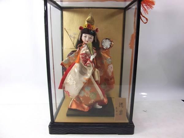 日本人形 浅妻  京玉作 ガラス ケース入り_画像1
