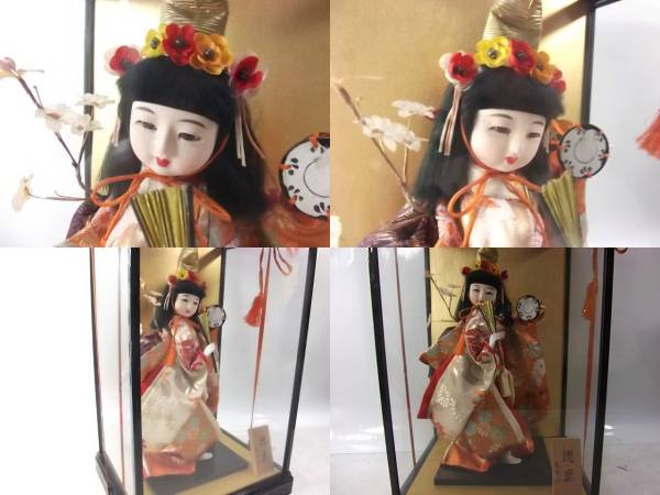 日本人形 浅妻  京玉作 ガラス ケース入り_画像3