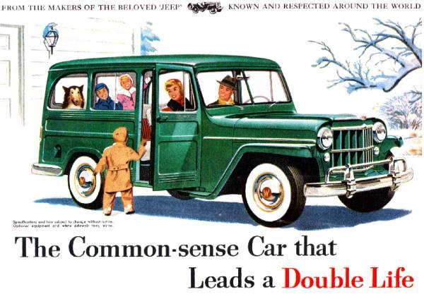 ◆1954年の自動車広告 ジープ JEEP ウィリス_画像1
