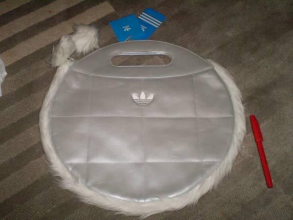 新品 激安 adidas バッグ アディダス オリジナルス 丸い シルバー レア 激安 BAG ハンドバッグ トートバック ビンテージ バッグ